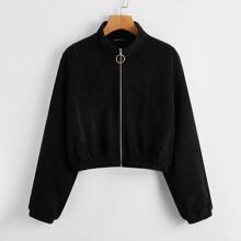 O-ring Zipper Placket Solid Cord Jacket