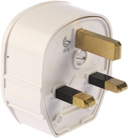 MK Electric UK Mains Connector BS 1363, 13A, Cable Mount, White
