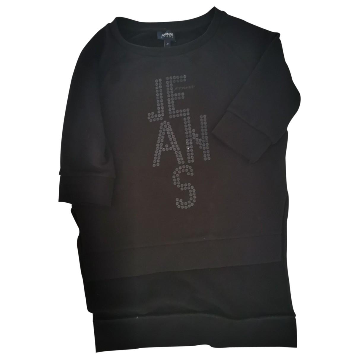 Armani Jean - Top   pour femme en coton - noir