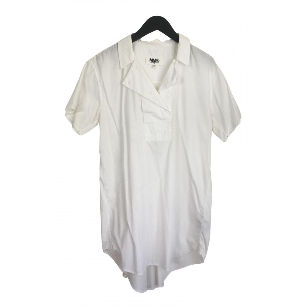 Mm6 N White Cotton Shirts for Men 42 EU (tour de cou / collar)