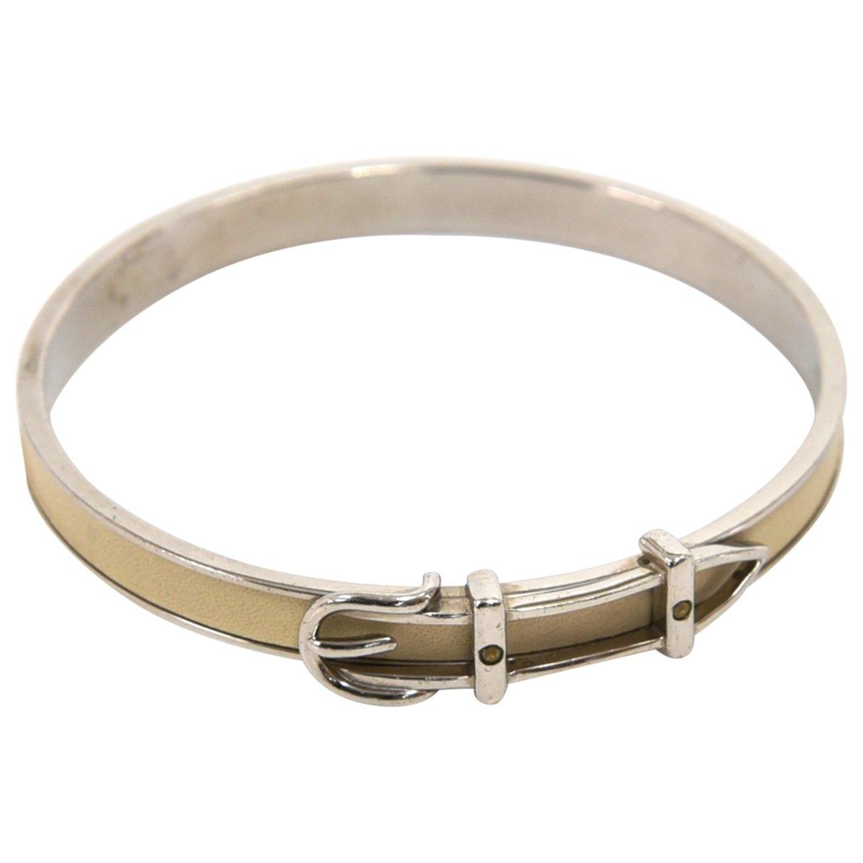 Hermes - Bracelet Ceinture pour femme en cuir - argente