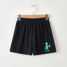 Alien Graphic Shorts