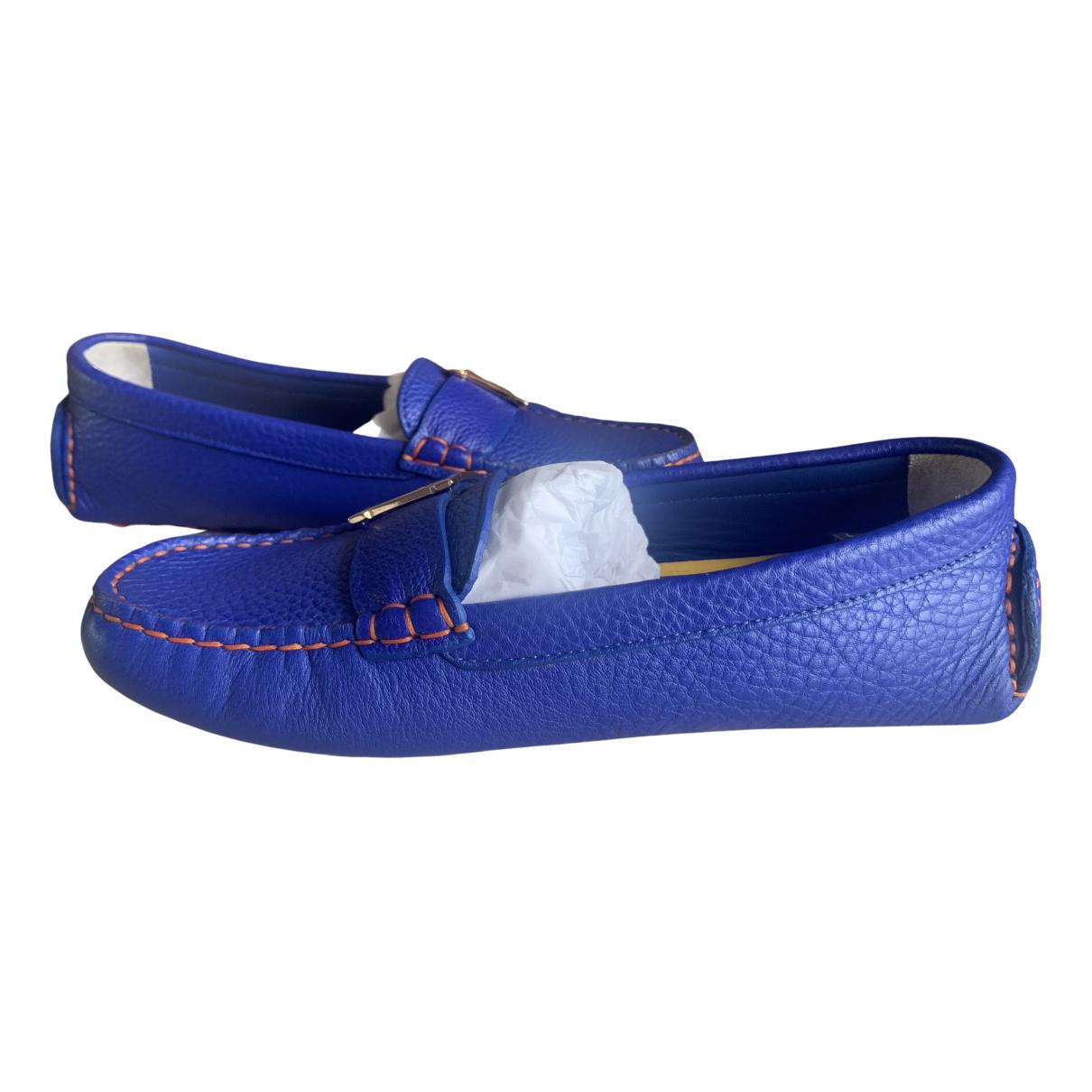Fendi \N Mokassins in  Blau Leder