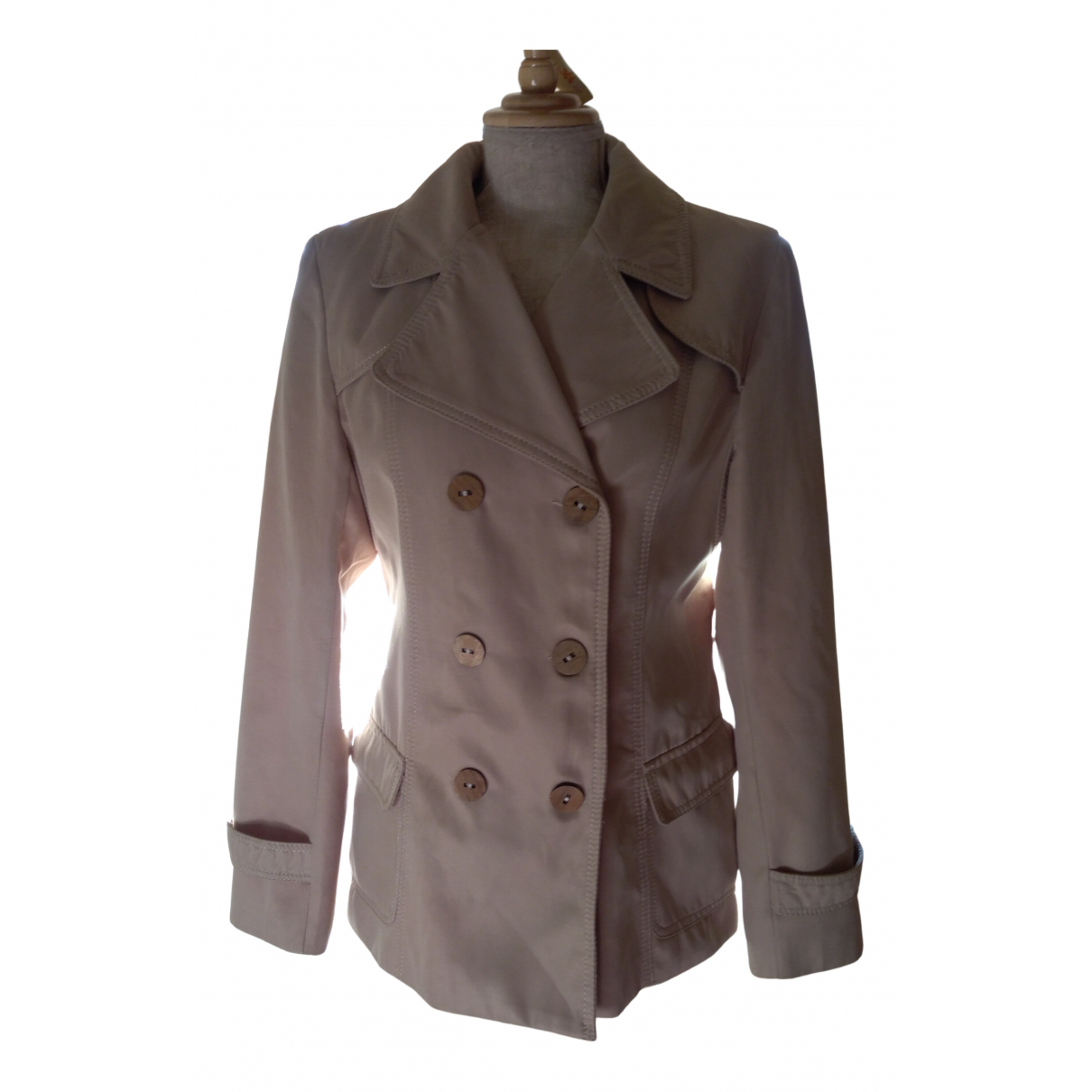 Non Signé / Unsigned N Beige jacket for Women 40 FR