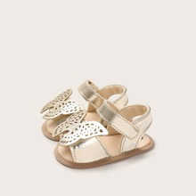 Baby Girl Metallic Butterfly Appliques Sandals