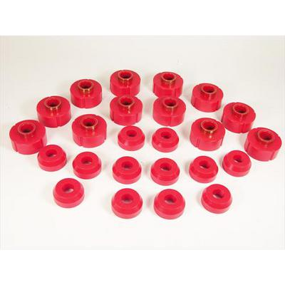 Prothane Body Mount Kit (Red) - 1-106
