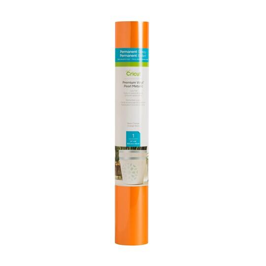 Cricut® Premium Vinyl™ Pearl Metallic in Neon Orange | 12