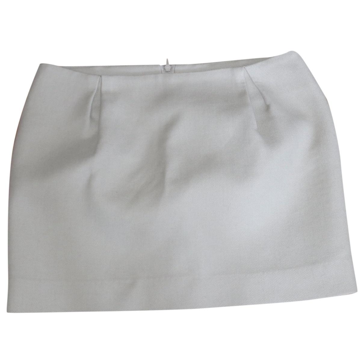 Maje \N Beige Cotton skirt for Women 36 FR