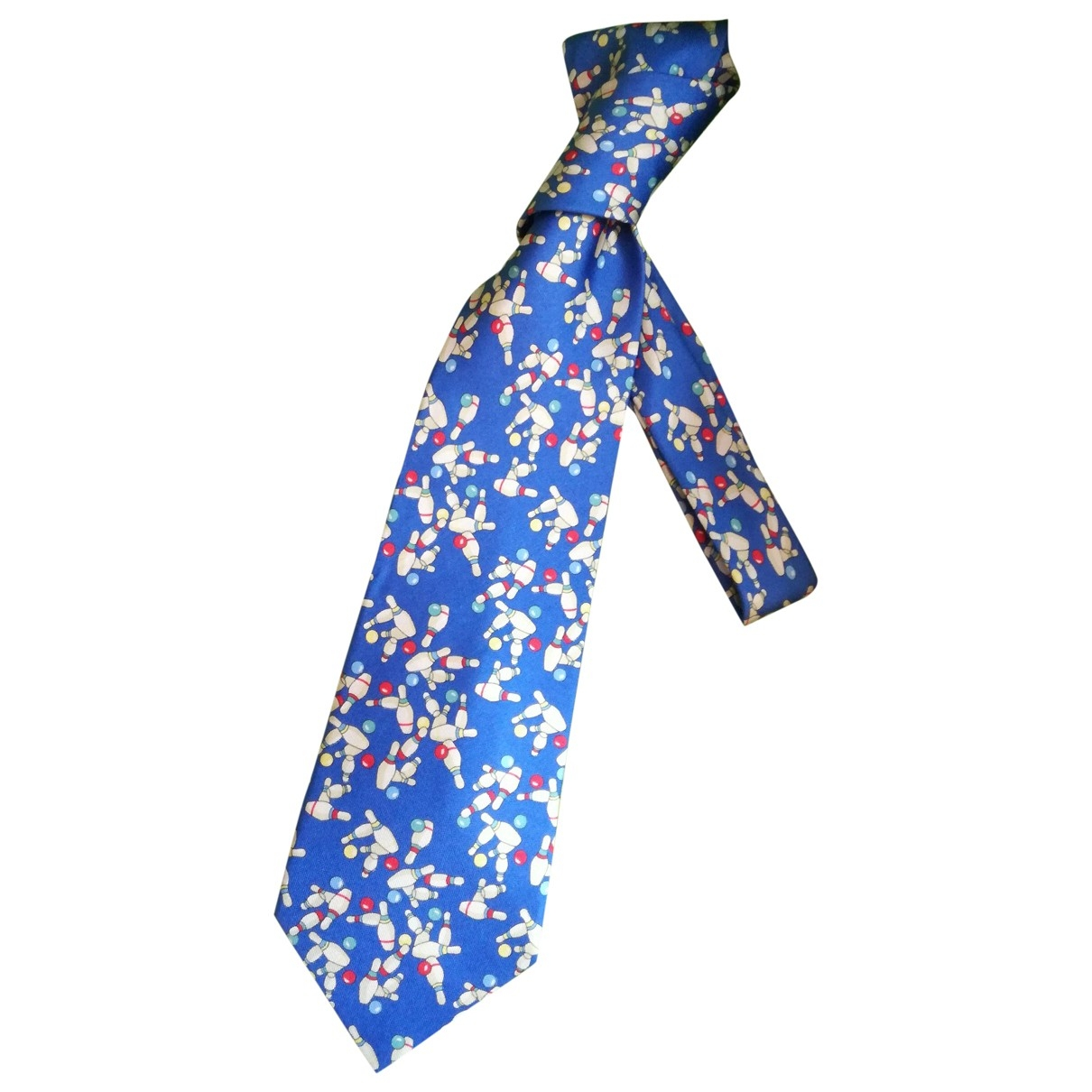 Pierre Balmain \N Krawatten in  Blau Seide