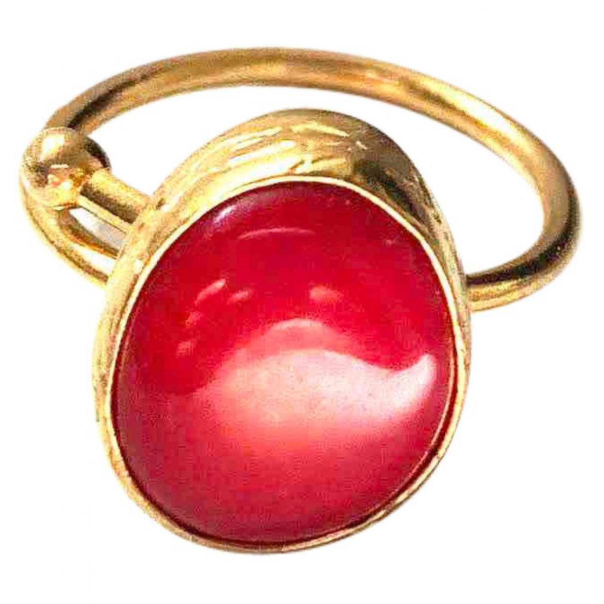 Non Signé / Unsigned \N Red Gold plated ring for Women \N