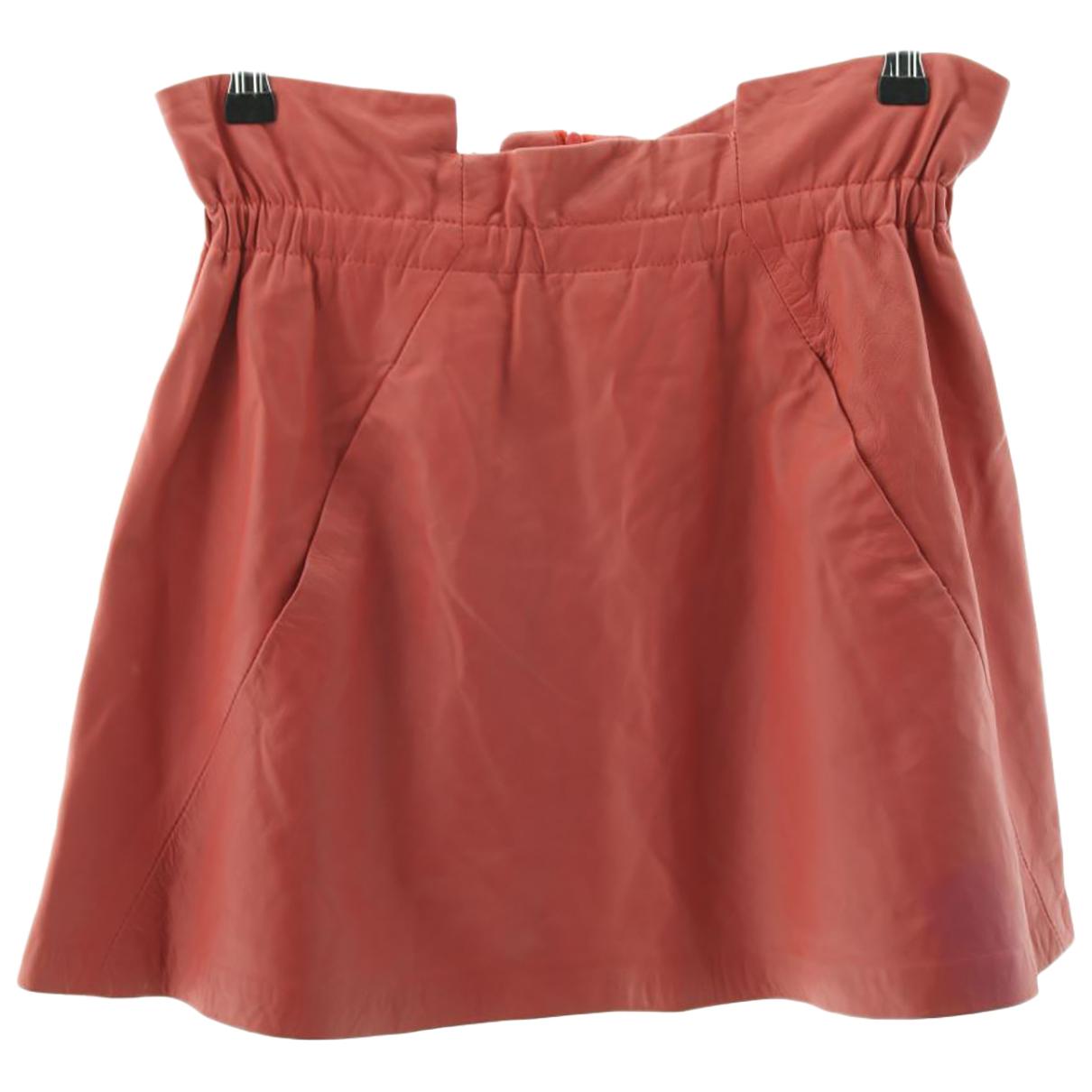 Bel Air - Jupe   pour femme en coton - rouge