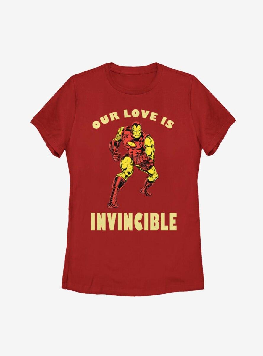 Marvel Iron Man Invincible Love Womens T-Shirt