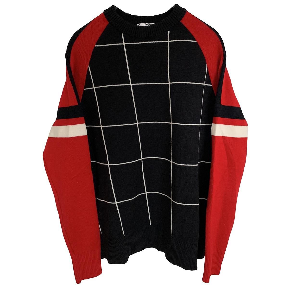 Ami \N Pullover.Westen.Sweatshirts  in  Marine Wolle
