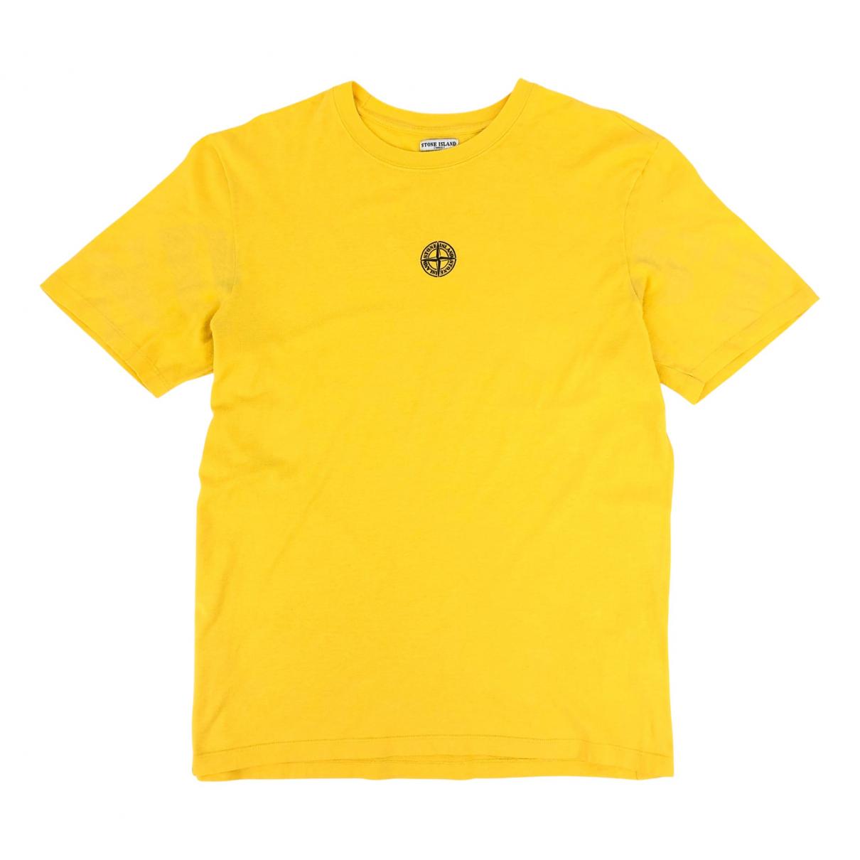 Stone Island - Tee shirts   pour homme en coton - jaune
