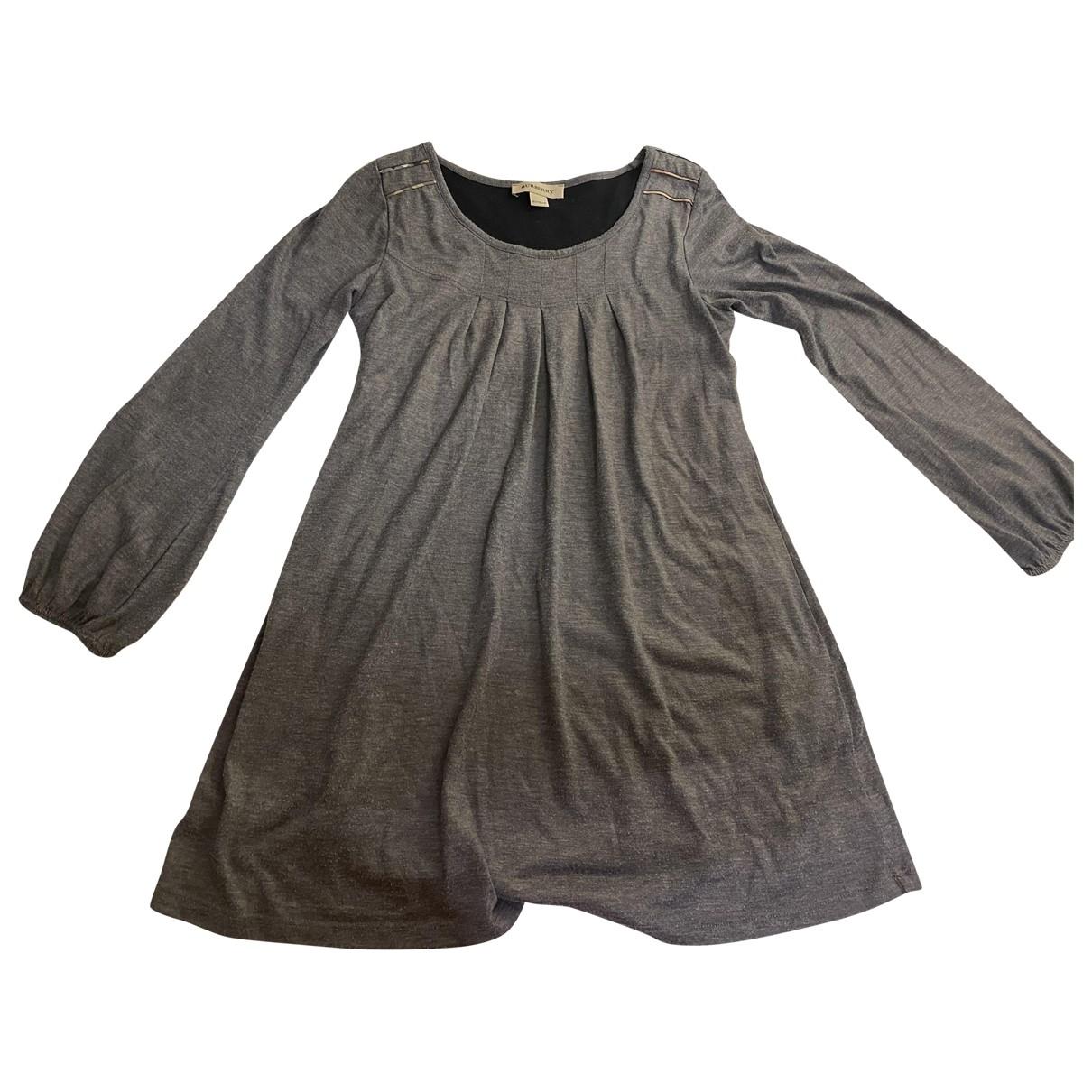Burberry \N Kleid in  Silber Wolle