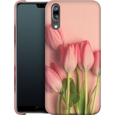 Huawei P20 Smartphone Huelle - Pink Tulips von Joy StClaire