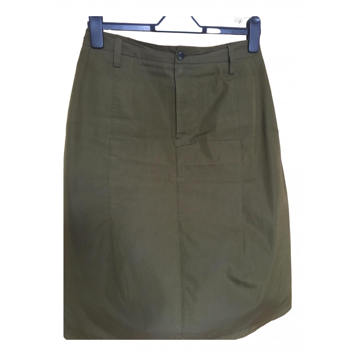 Jil Sander \N Green Cotton skirt for Women 12 UK