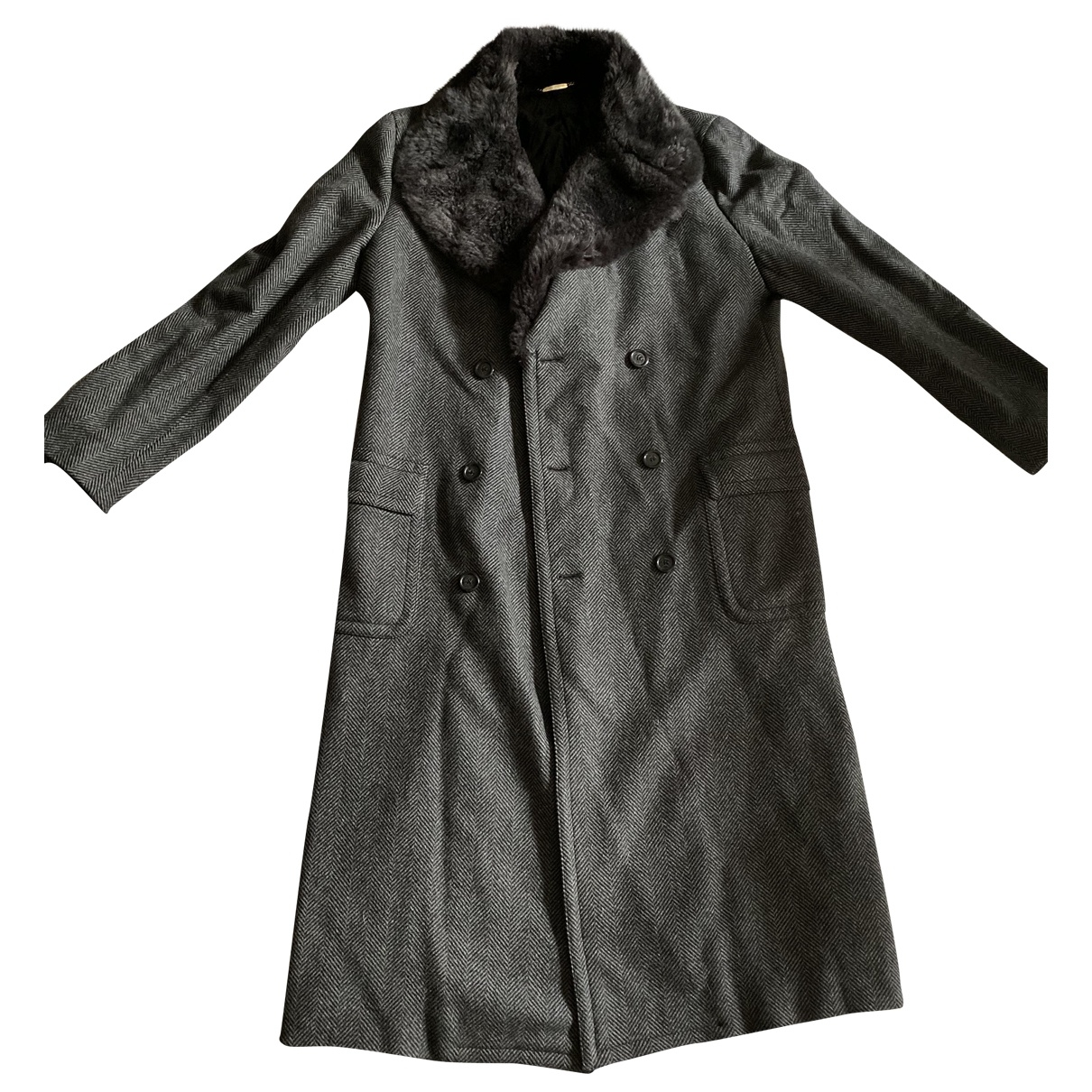 Dolce & Gabbana \N Grey Wool coat  for Men 48 IT