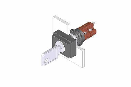 EAO Key Switch, 2NC+2NO, 5 A 2-Way, -25 → +85°C