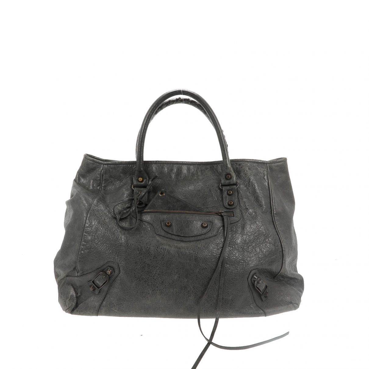 Balenciaga \N Handtasche in  Khaki Leder