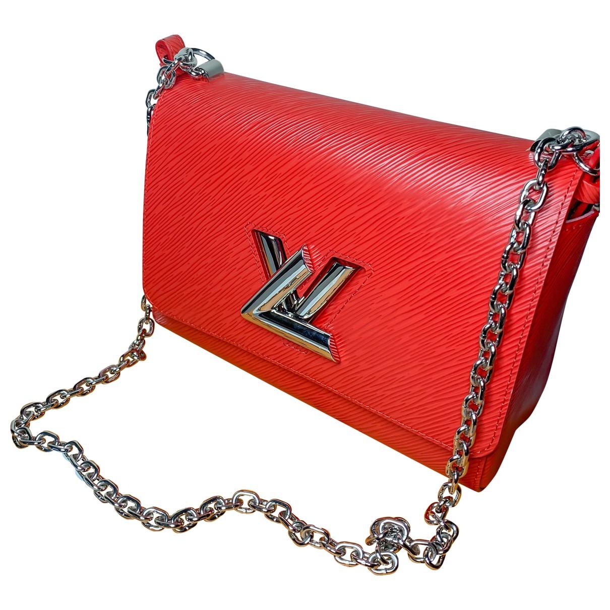 Louis Vuitton - Sac a main Twist pour femme en cuir - rouge