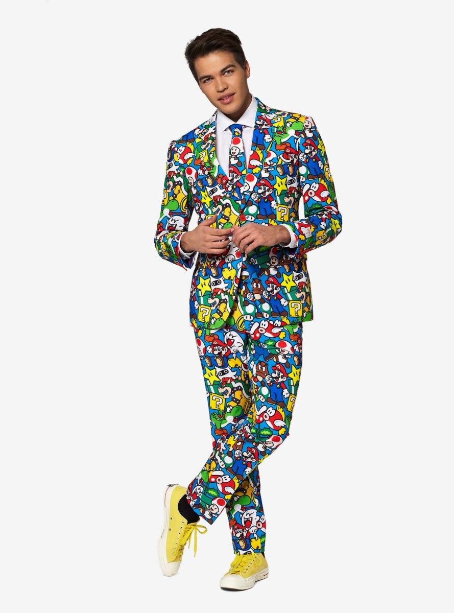 Nintendo Super Mario Men's Licensed Suit