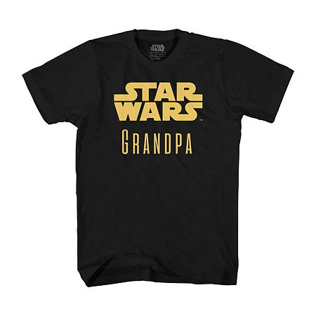 Mens Star Wars Grandpa Graphic T-Shirt, Small , Black