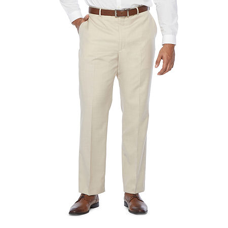 Stafford Super Mens Stretch Classic Fit Suit Pants - Big and Tall, 52 32, Beige