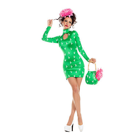 Adult Sassy Prickly Pear Costume Womens Costume, Small , Green
