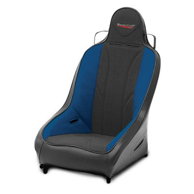 MasterCraft Safety 2 Inch WIDER PRO 4 Seat with Fixed Headrest (Black/ Blue) - 565213