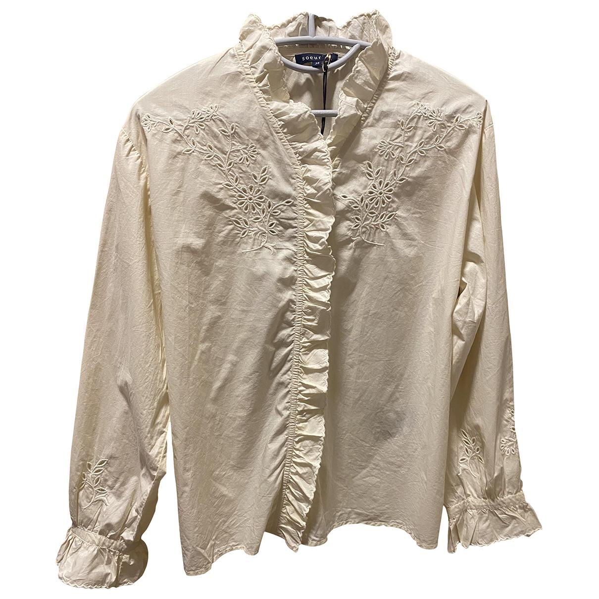 Soeur - Top   pour femme en coton - blanc