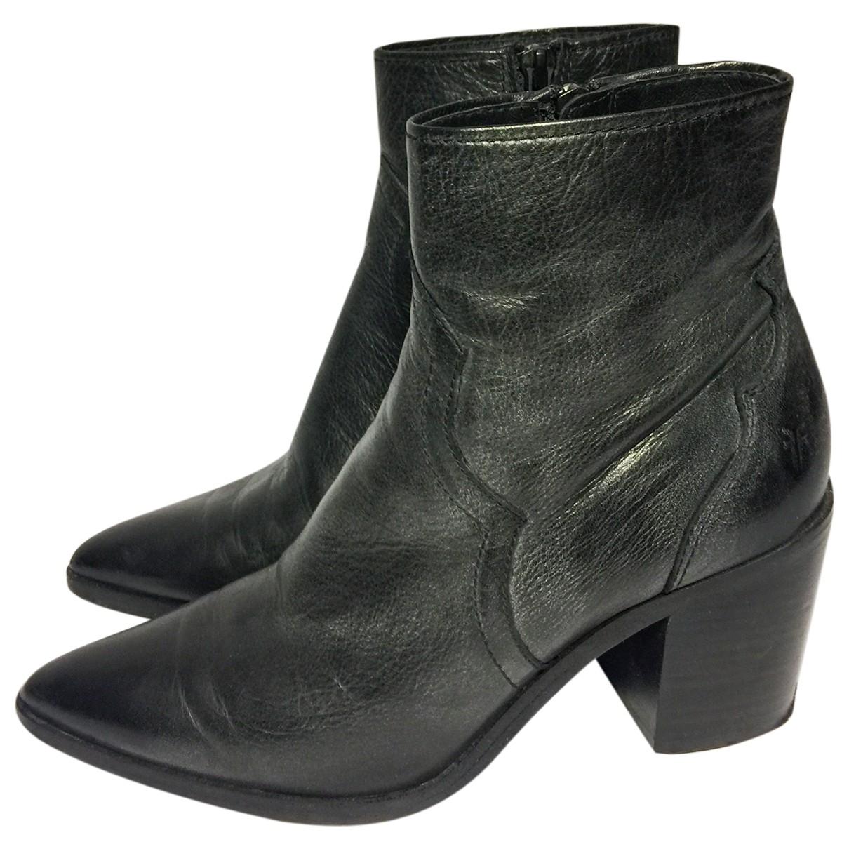 Frye - Boots   pour femme en cuir - noir
