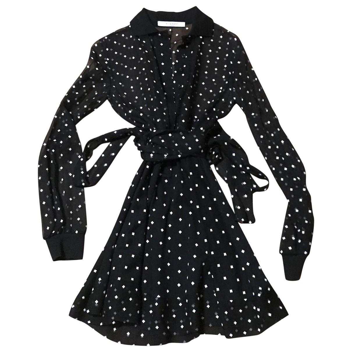 Givenchy \N Kleid in  Schwarz Seide