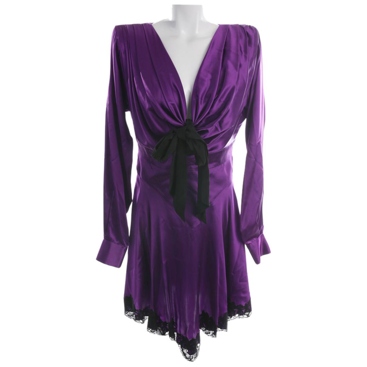 Alessandra Rich \N Kleid in  Lila Seide