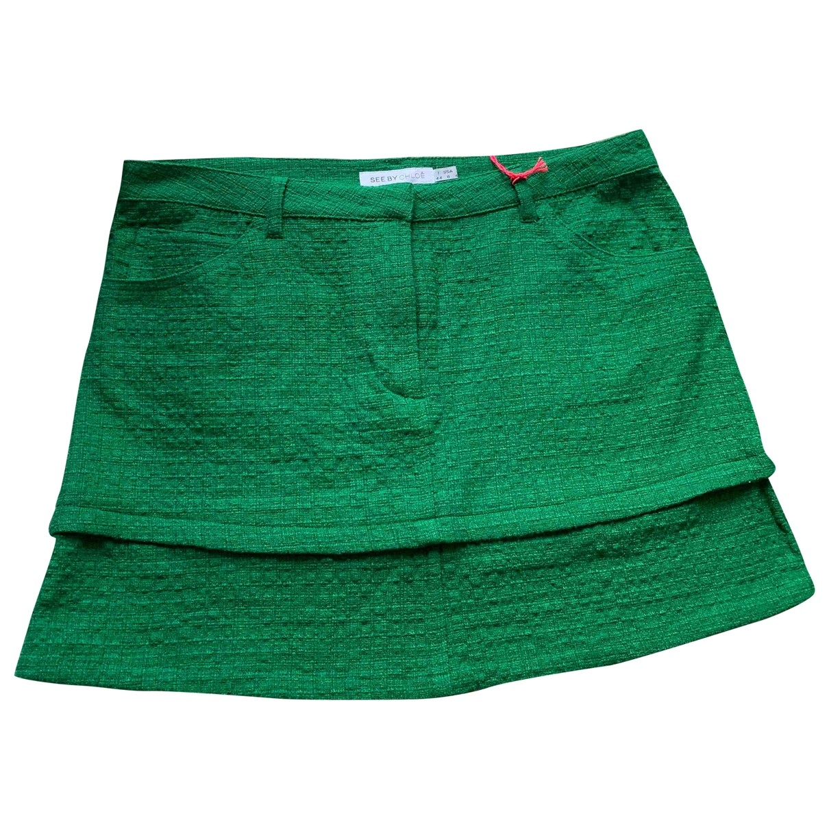 See By Chloe - Jupe   pour femme en coton - vert