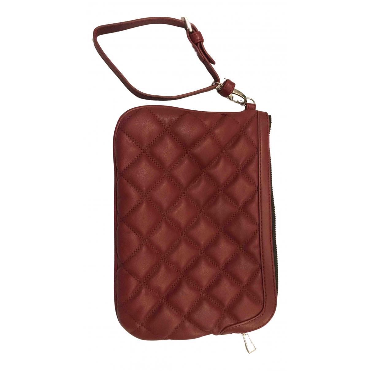Pinko - Pochette   pour femme en cuir - bordeaux
