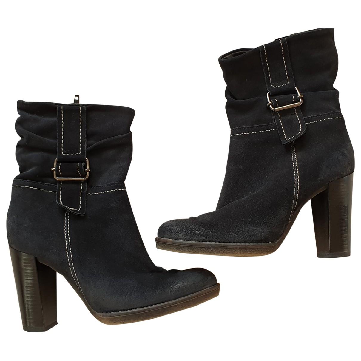 Jean-louis Scherrer - Boots   pour femme en cuir - noir