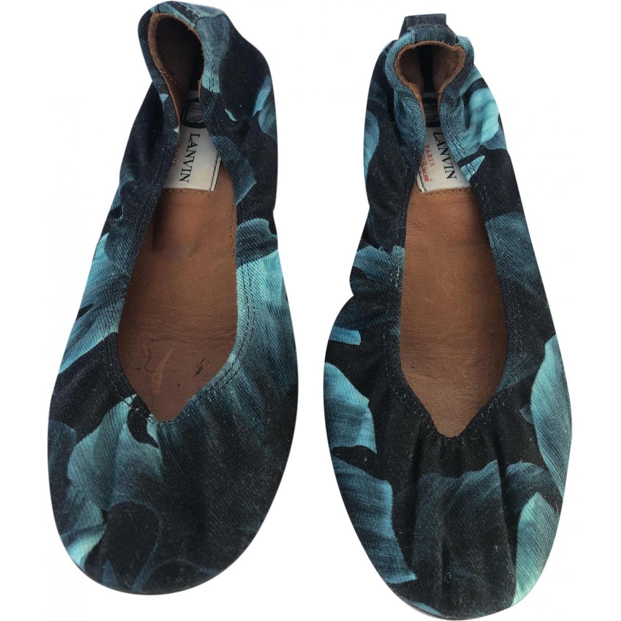 Lanvin \N Blue Cloth Ballet flats for Women 36 IT