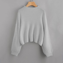 Jersey tejido de hombros caidos