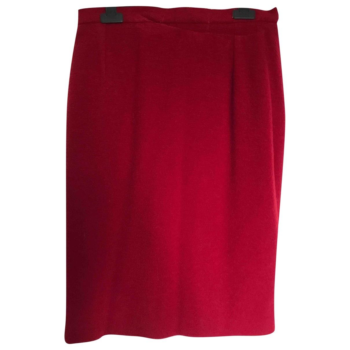 Yves Saint Laurent \N Rocke in  Rot Wolle