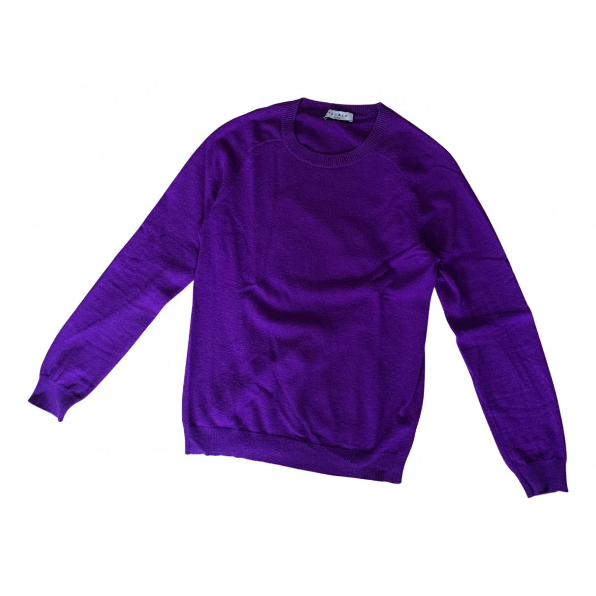 Sandro \N Pullover.Westen.Sweatshirts  in  Lila Kaschmir