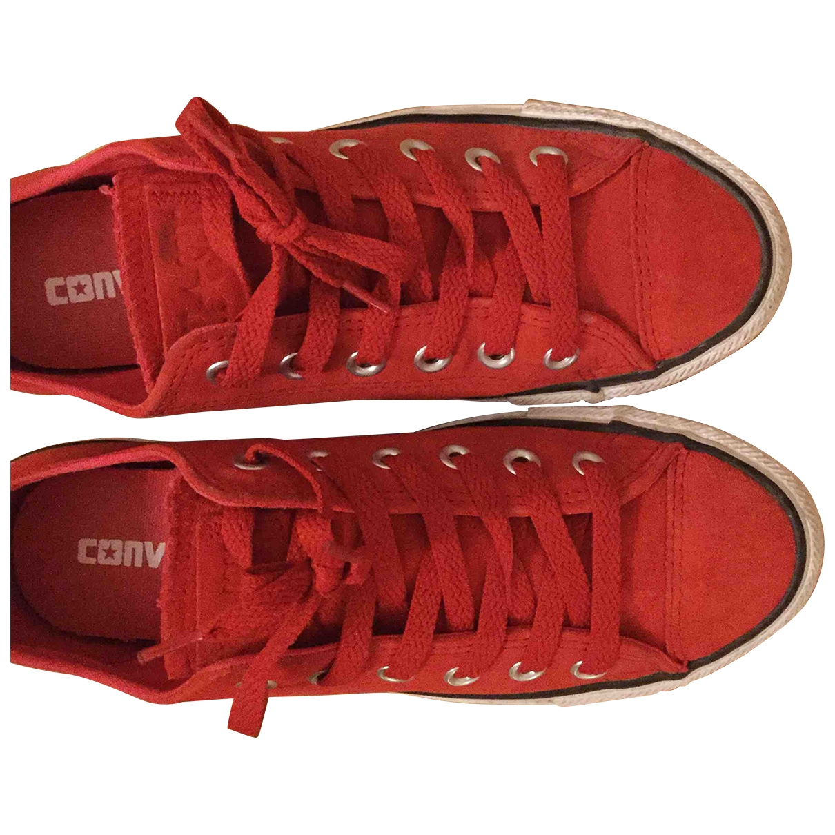 Converse \N Red Suede Trainers for Women 38 EU
