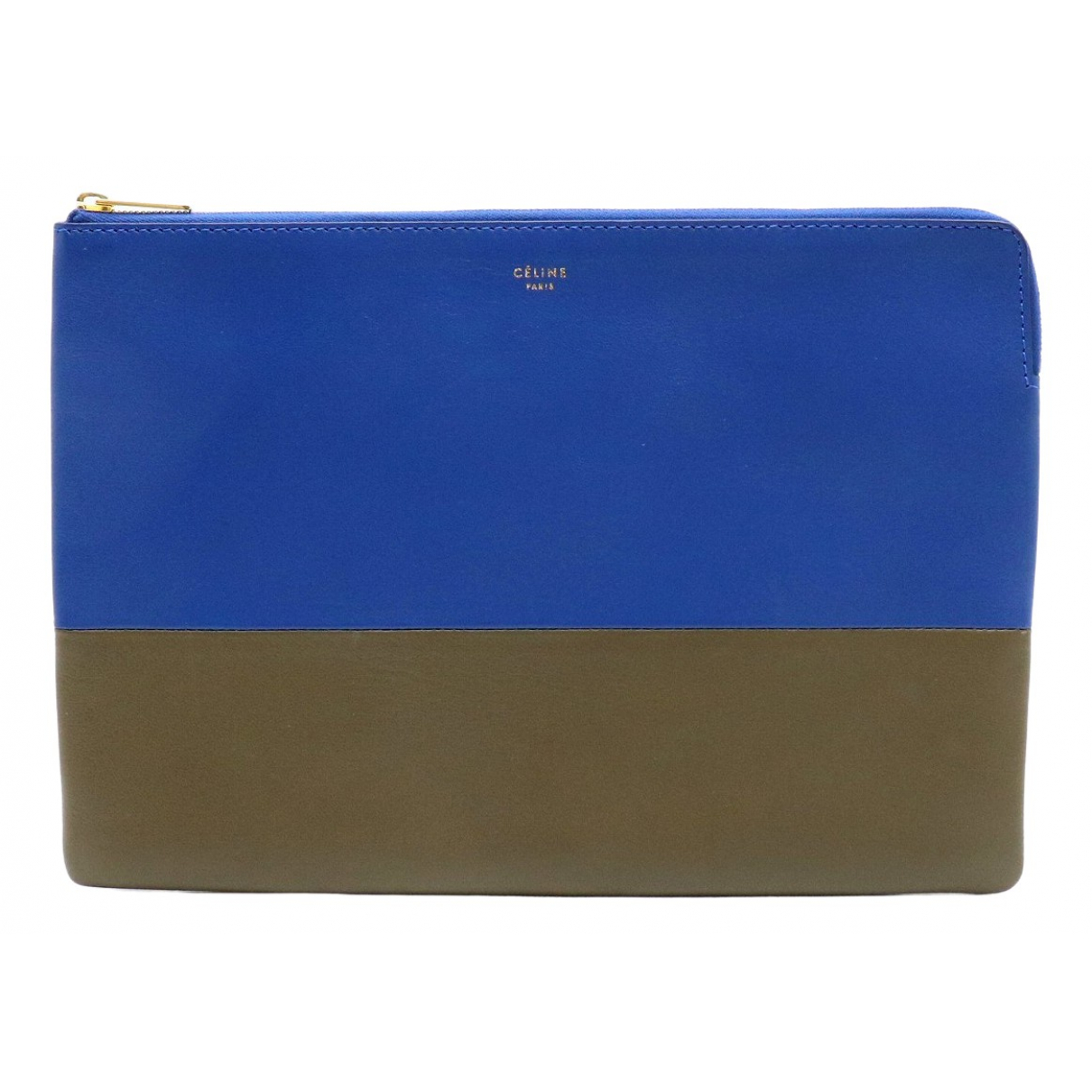 Celine - Pochette   pour femme en cuir - bleu
