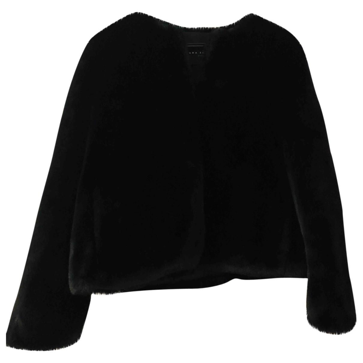Tara Jarmon \N Black Faux fur coat for Women 40 FR