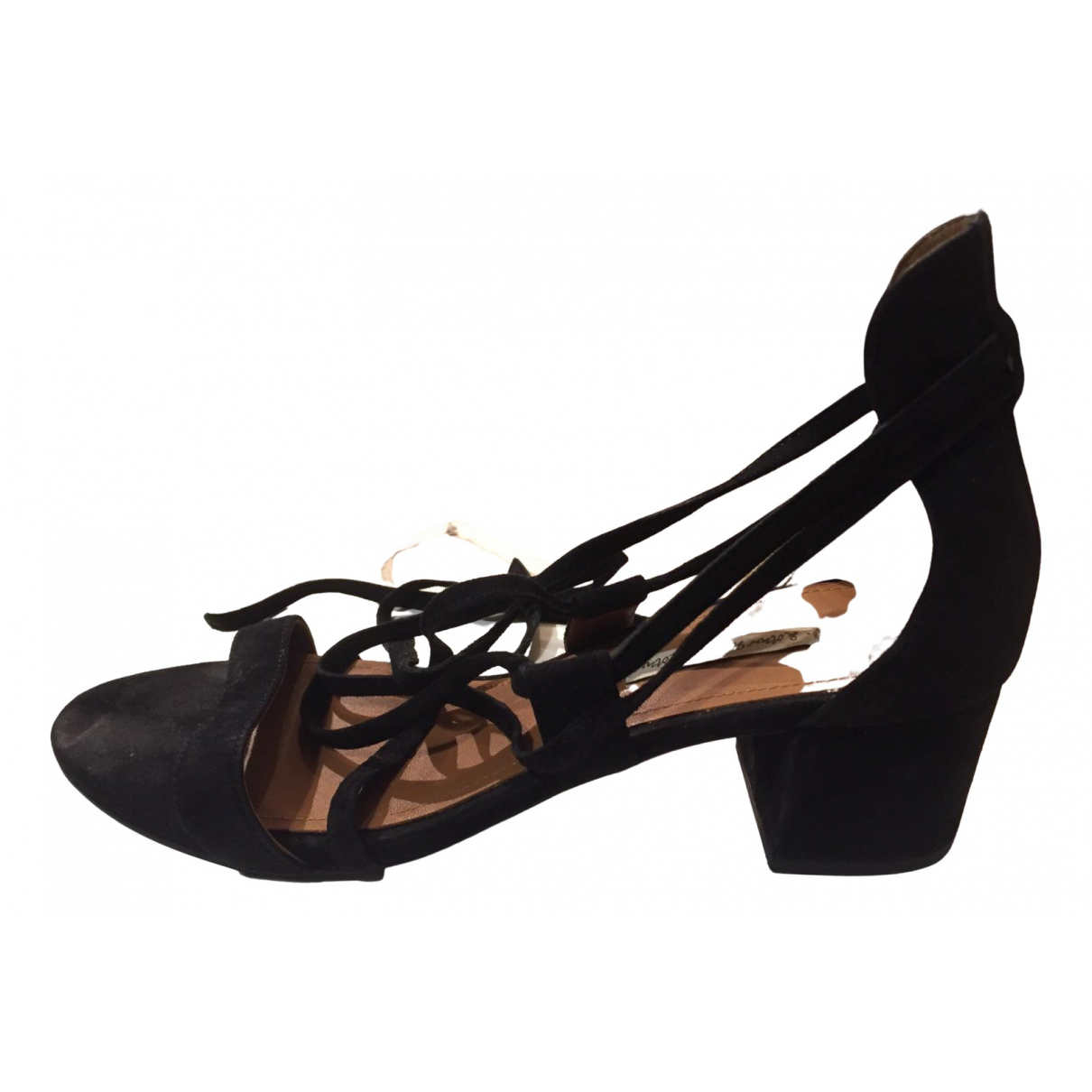 & Stories N Black Suede Sandals for Women 39 EU