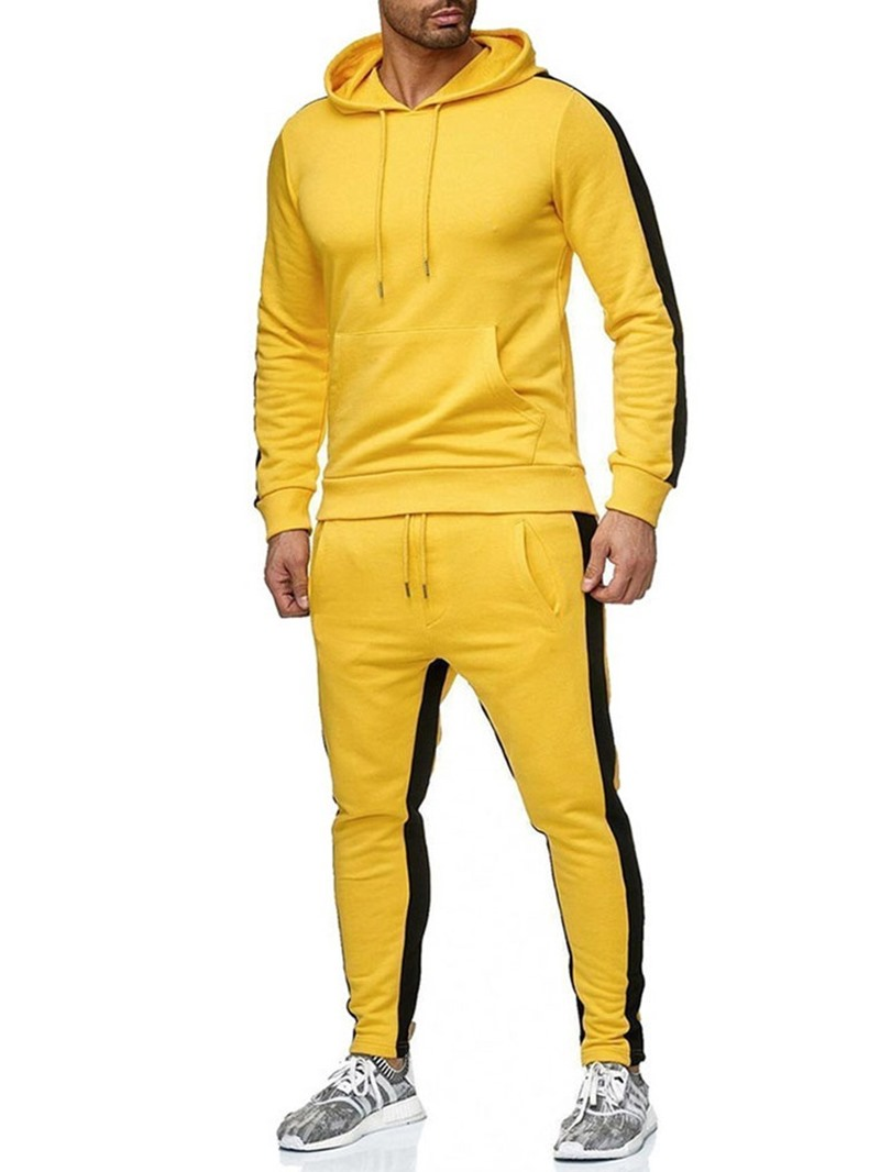Ericdress European Hoodie Patchwork Mens Outfit