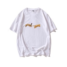 Men Figure And Butterfly Print Tee