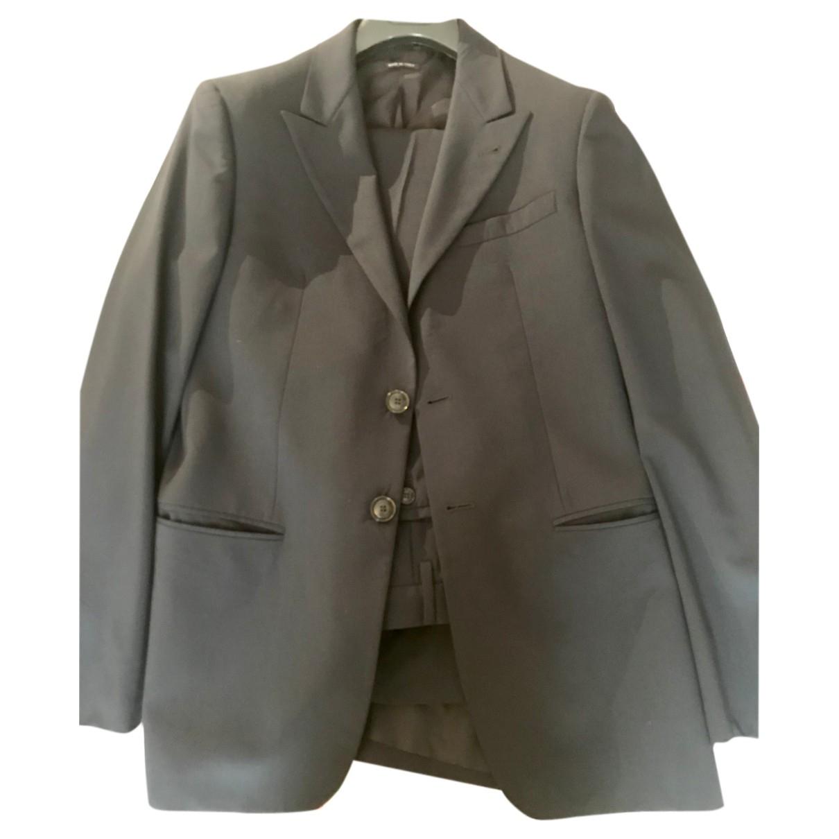 Giorgio Armani - Costumes   pour homme en coton - bleu