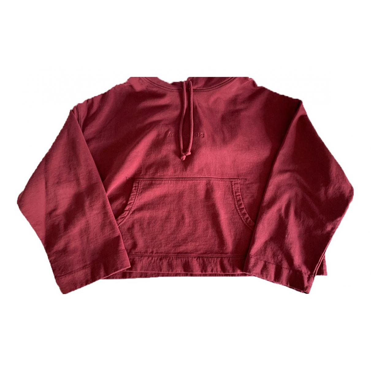 Acne Studios \N Burgundy Cotton Knitwear for Women XS International