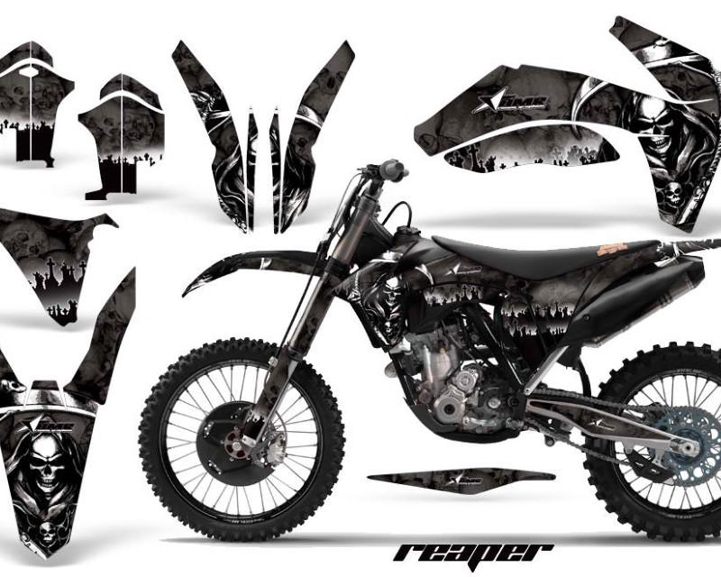 AMR Racing Dirt Bike Decal Graphics Kit Wrap For KTM SX/SX-F/XC/EXC/XFC-W 2011-2013áREAPER BLACK